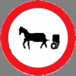Closed to animal‐drawn vehicles and animals