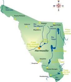 Ríos y presas en Sonora