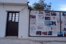 Mural informativo en San Bernardo. Fotografía de Jesús Armando Haro