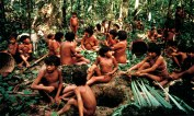 YANOMAMI POUND LEAVES FOR TIMBÓ, DEMINI, BRAZIL