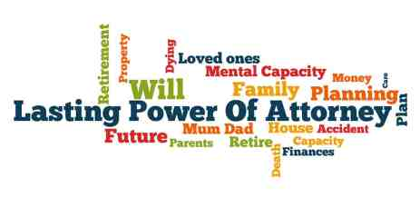 Lasting Powers of Attorney word cloud