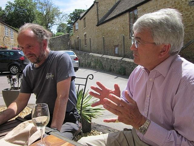 Old boys Peter Liesching and Edward Lutley. Castle Cary 2011