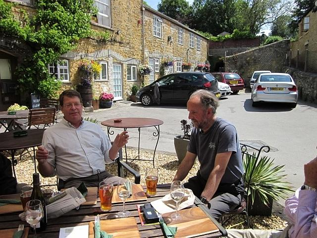Peter Isaac with Peter Liesching 2011 Castle Cary