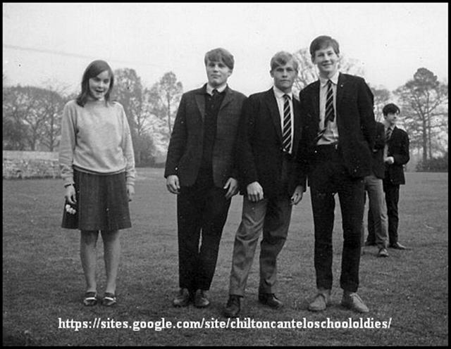 Mary Carslake, Adrian Brooking-Clark, Michael Brake, Nigel Joscelyne & P. Hadjillias. 1966 ish