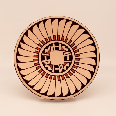 Erik Fender- PolyChrome Feather Design-San Ildefonso Pueblo, Chimayo Trading del Norte