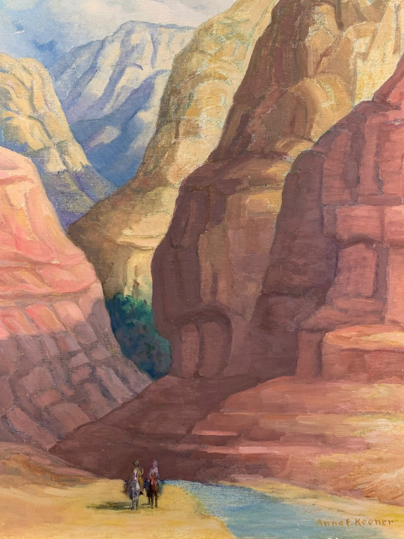 Anna-E-Keener-The Canyon-Chimayo Trading del Norte-Paintings-Historic