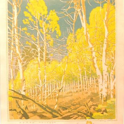 """""""Aspen Thicket"""" Gustave Baumann"""