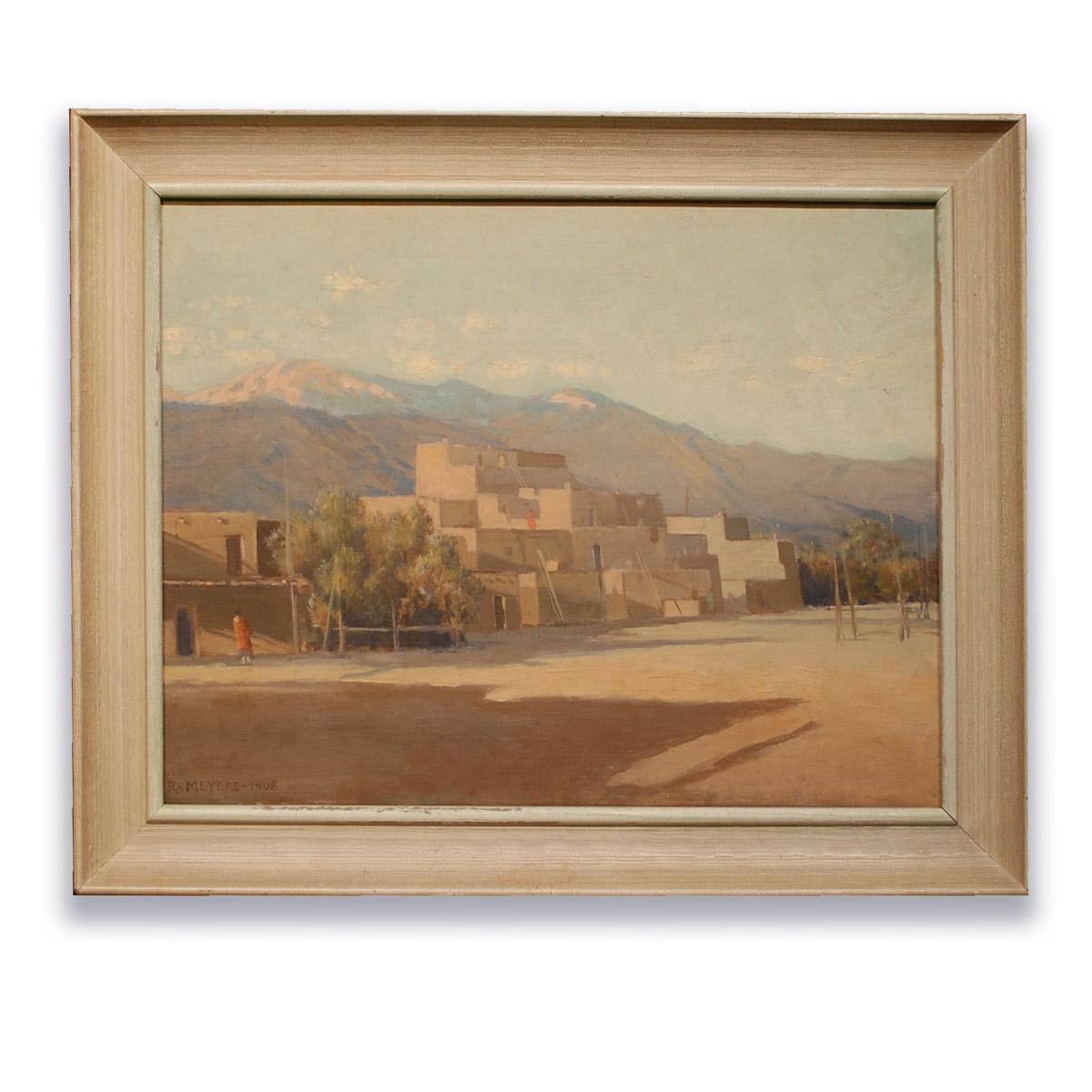 Ralph Meyers-Chimayo Trading del Norte-Paintings-Historic