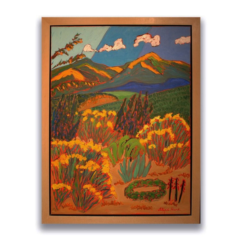 Alyce Frank-Chimayo Trading del Norte-Paintings-Contemporary