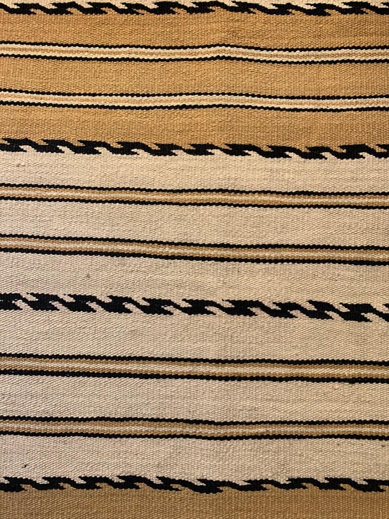 """Navajo Wearing Blanket, Ca. 1880s"" Transitional period."