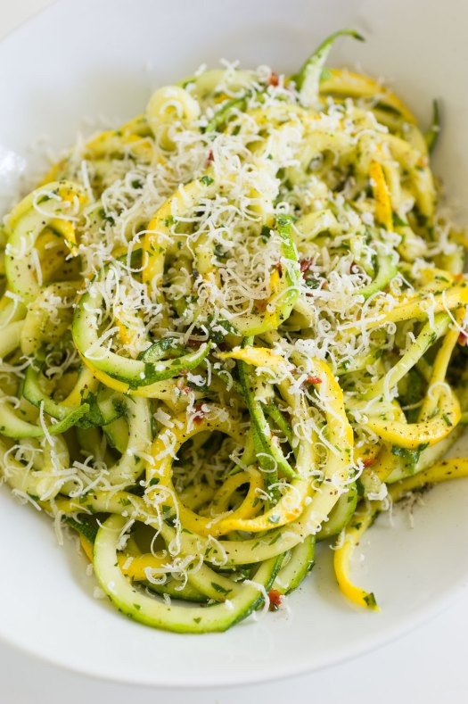 Zucchini Pasta Top View | Minimally Invasive