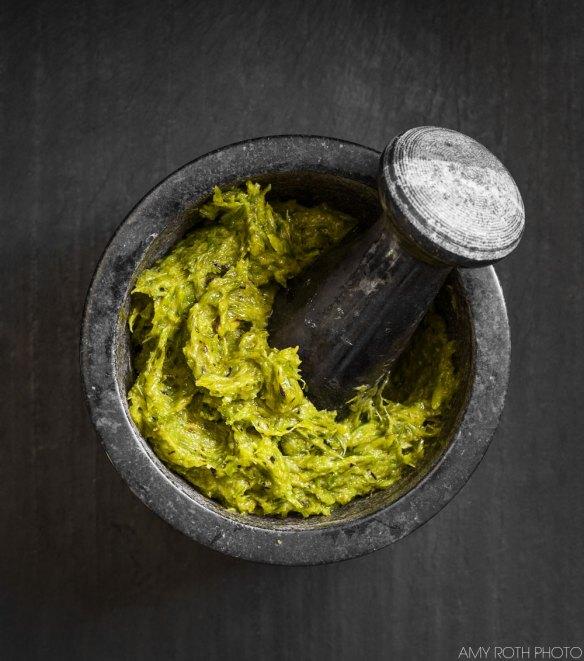 Grilled Garlic Scape Mash | Minimally Invasive