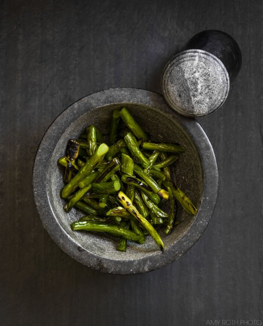 Grilled Garlic Scapes | Minimally Invasive