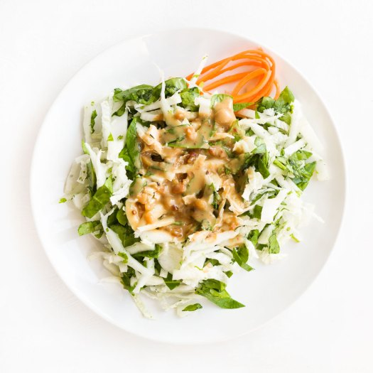 Salad with Peanut Dressing | Amy Roth Photo