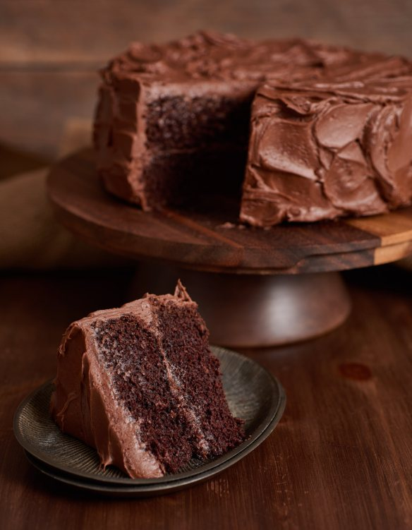 Chocolate Cake Slice | Amy Roth Photo