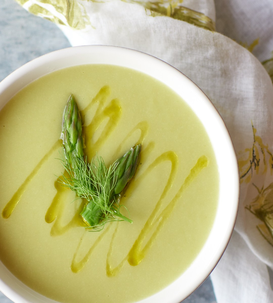 Asparagus & Fennel Soup by Amy Roth Photo