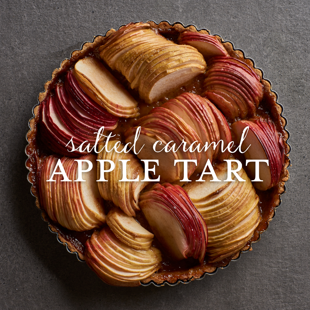 Apple Tart with Salted Caramel by Amy Roth Photo