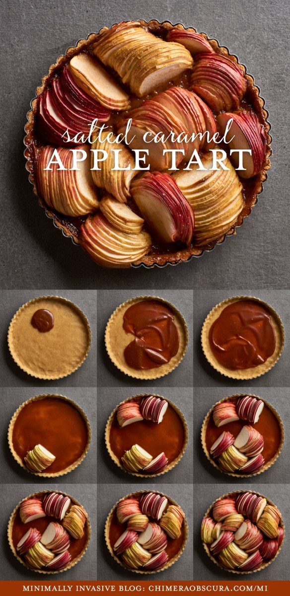 Gluten-free apple tart with salted caramel by Amy Roth Photo