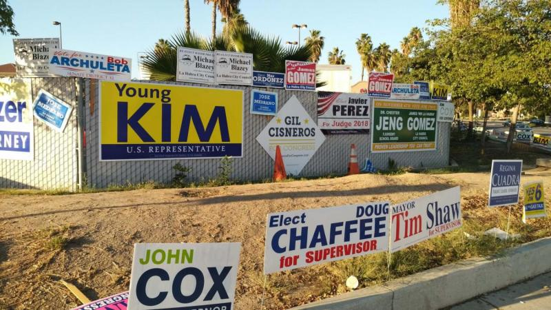 Midterm campaign signs