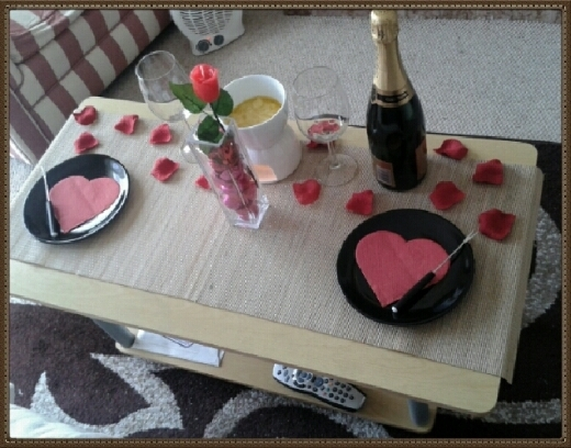 Valentine's day meal at home