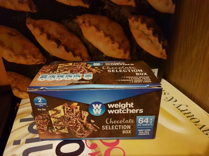 Healthy snacking with Weight Watchers chocolate selection box