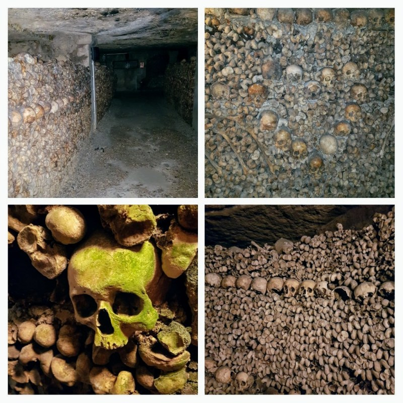Paris Trip - Day 2 - Catacombs, museums and pretty lights