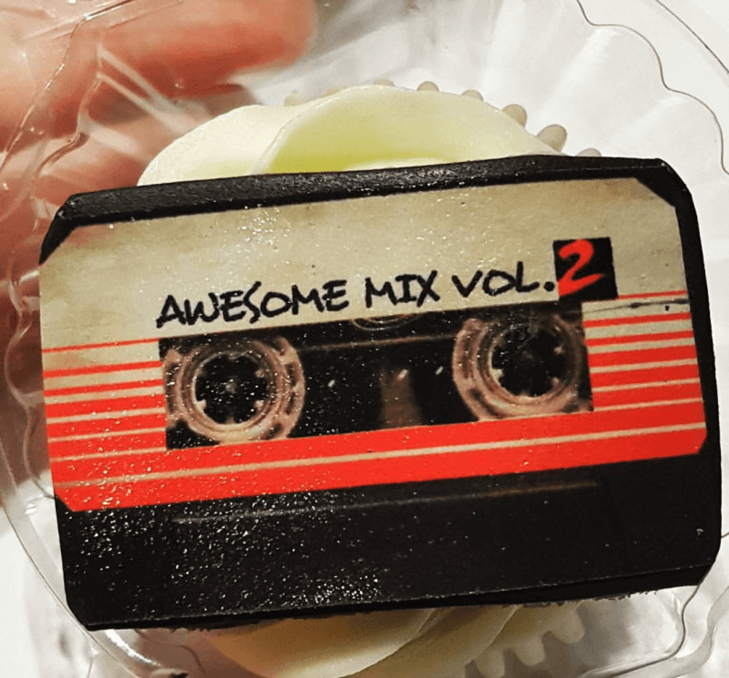 Awesome Mix Vol 2 Cupcake