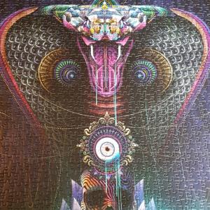 Aztec snake jigsaw puzzle