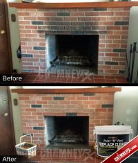 Cleaning Soot Off Fireplace Brick. Chimney Rx Paint N Peel ...