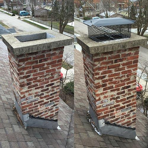 Chimney Custom Caps  Chimney Installation  Indianapolis IN