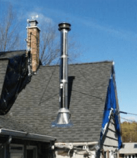 Stove Pipe: Stove Pipe Through Roof Kit