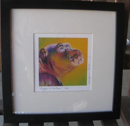 Negra in the sun framed