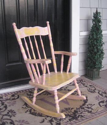nine lives rocking chair
