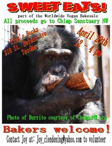 Tacoma vegan bake sale flyer