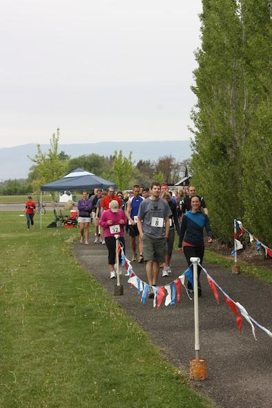 approaching start line