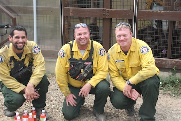 snohomish firefighters in front of chimps