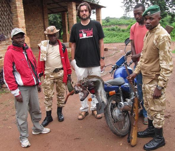 4 confiscated monkey & shotgun