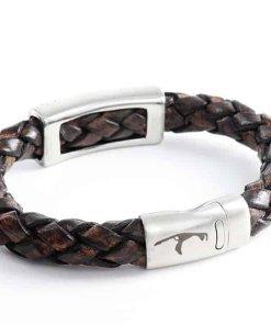 Geflochtenes Leder Herren Armband