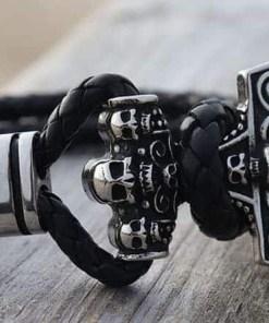 Herrenarmband Thor-Hammer Totenkopf Männerarmband