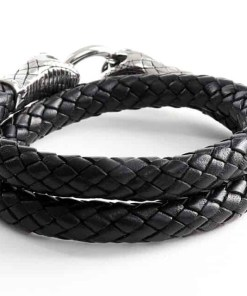 Männerarmband Wickelarmband Schlange Verschluss