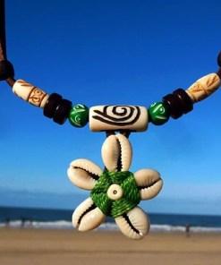 Muschelkette Blumenkette Kauri-muschel Halskette