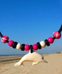 Halskette Delfin Lederkette Delphin