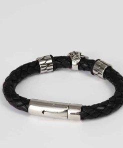 Herren Lederarmband Totenkopf Männer-Armband1