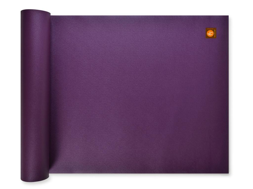 tapis de yoga excellence mat 100 latex 4 5mm prune