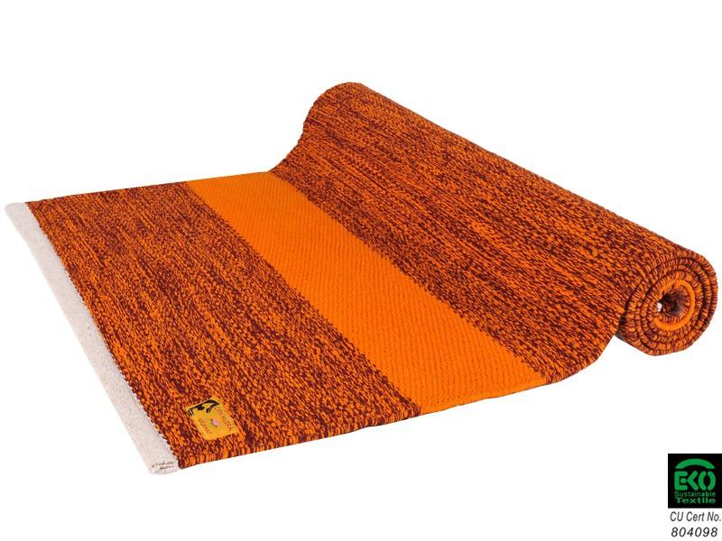 tapis de yoga taj 100 coton bio sans caoutchouc 2 m x 66 cm x 5mm bordeaux safran