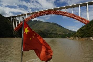 Yangzi and Chinese Flag