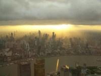 Sonnenuntergang über Shanghai