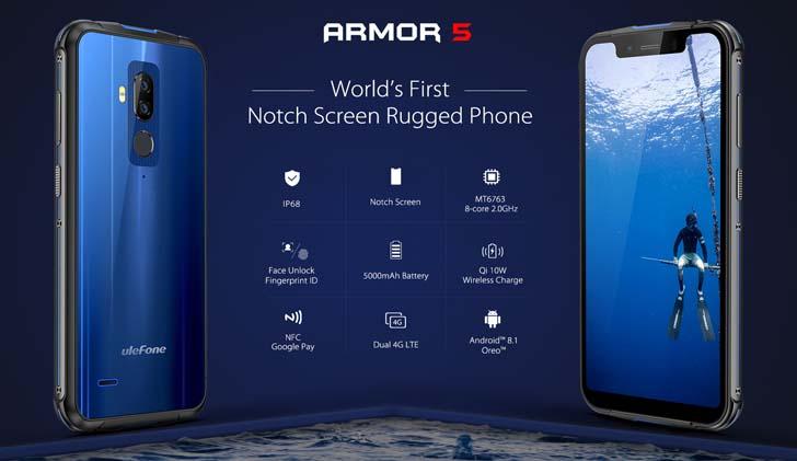 Официально анонсирован защищенный смартфон Ulefone Armor 5