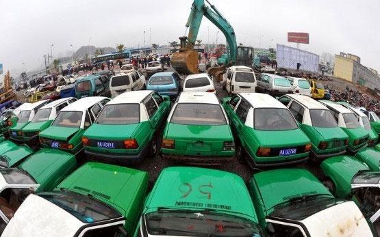 Mass demolition of vehicles