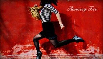 running-free-Floating girl